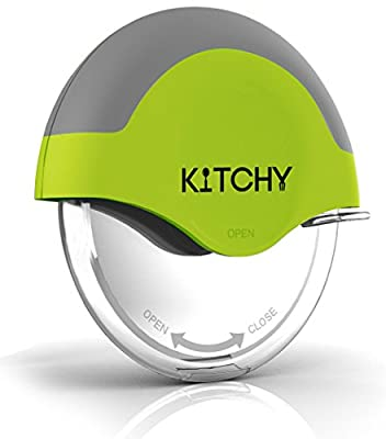 Kitchy Pizza Cutter Wheel with Protective Blade Guard, Super Sharp and Easy To Clean Slicer, Stainless Steel
