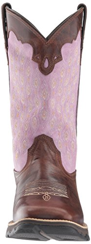 Dark DRD0196 Boot Western Lavender Durango Brown Women's HqwAU5I