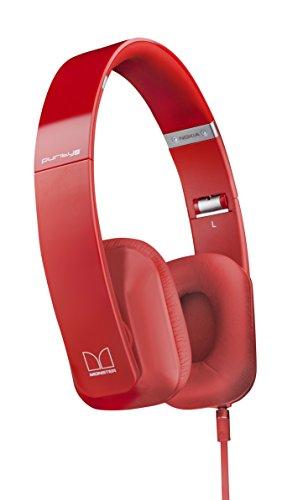 Nokia WH-930 Purity HD Wired On-Ear Stereo Kopfhörer von Monster - für iPod, iPhone, Smartphone und MP3 Player universell - 3,5 mm Klinkenstecker, Leicht-Kopfhörer, komfortables Headset, zusammenklappbar inklusive Tasche, rot