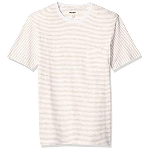 - 41yciVaDBnL - Amazon Brand – Goodthreads Men's Short-Sleeve Striped Slub Crewneck Pocket T-Shirt