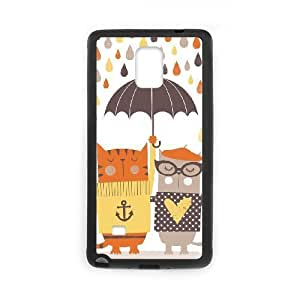 Case For Samsung Galaxy Note 4, Cats Case For Samsung Galaxy Note 4, Black Yearinspace127690