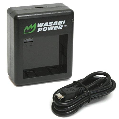 Cheap Wasabi Power Dual Battery Charger for Xiaomi Yi Sport Action Camera