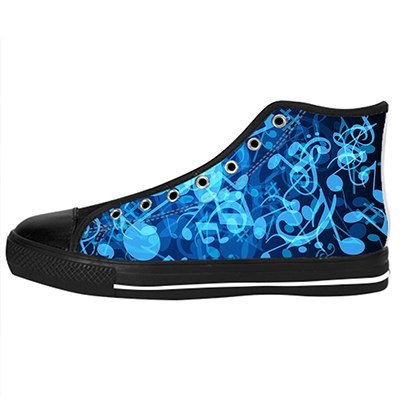 - Custom Music and Guitar Womens Classic High Top Canvas Shoes Fashion Sneaker