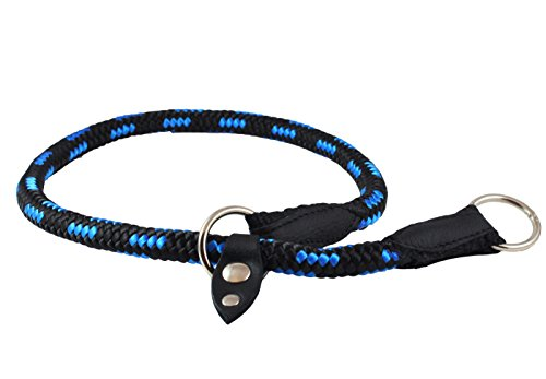 Dogs My Love Round Braided Rope Nylon Choke Dog Collar with Sliding Stopper (28