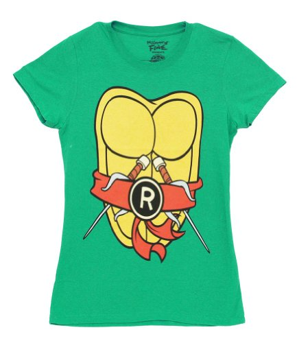 Ninja Turtles Womens T Shirt (Teenage Mutant Ninja Turtles Mike Mighty Fine Costume Juniors T-Shirt Tee)