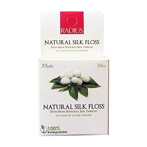 RADIUS Natural Biodegradable Silk Floss, 33 Yrd