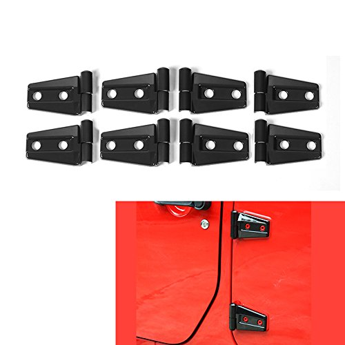 RT-TCZ Black Jeep Door Accessories Door Hinge Cover for 2007-2018 Jeep JK Wrangler Unlimited 4 Door