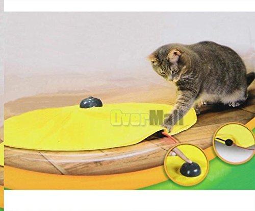 Cats Meow Yellow Undercover Fabric Moving Mouse Cat Play Cat's Toy As Seen on Tv by Unknown