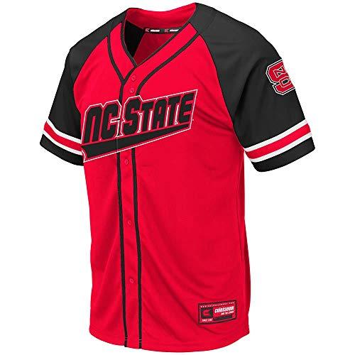 - Colosseum Mens NC State Wolfpack Wallis Baseball Jersey - M