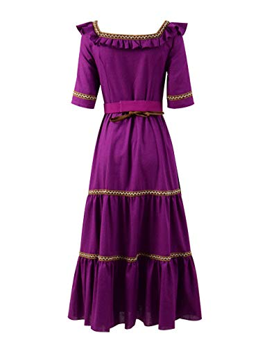 Xiao Maomi Women Anime Movie Imelda Héctor Costumes Cosplay Purple Gothic Victorian Long Dress for Halloween Party (US Women-XXXL, Long Dress) ()