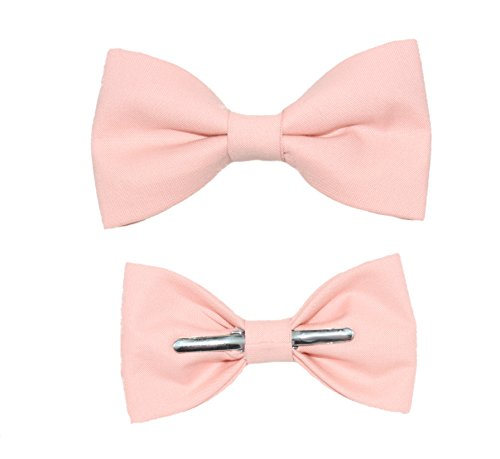 Toddler Boy 3T 4T Dusty Peach Clip On Cotton Bow Tie