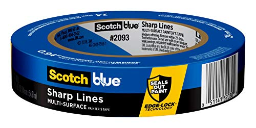 Scotch Painter's Tape 2093EL-24E ScotchBlue TRIM + BASEBOARDS Painter's Tape, 0.94-Inch x 60-Yard, 1 Roll, Width, Blue