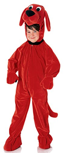 UHC Boy's Clifford the Big Red Dog Theme Jumpsuit Child Halloween Costume, Child S (4-6)