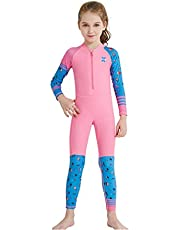 Silver_river Kids One Piece Full Length Swimsuits Boys Girls Rash Guard Surfing Wetsuit for Water Sports