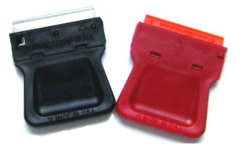 2 Mini Razor Blade Scrapers with 5 Metal Blade Pack USA Made