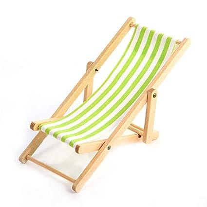 Fine Amazon Com Brosco Wooden Lounge Chair Green White Striped 1 Creativecarmelina Interior Chair Design Creativecarmelinacom
