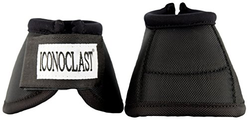 Iconoclast Equine Bell Boots (Black, Medium)