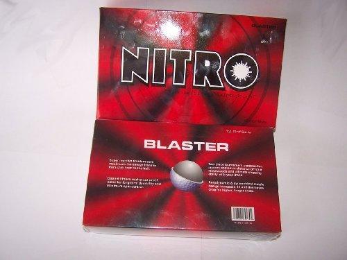 Nitro Blaster 12CT White Golf Ball, Outdoor Stuffs