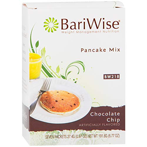 BariWise High Protein Pancake Mix/Low-Carb Diet Pancakes - Chocolate Chip (7 Servings/Box) - Low Carb, Low Fat, Low Calorie, Aspartame - Protein Bars Diet Bariwise
