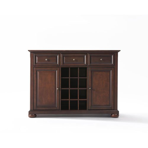 251 First Wellington Buffet Server/Sideboard Cabinet with Wine Storage in Vintage Mahogany Finish - Mahogany Sideboard Server Buffet
