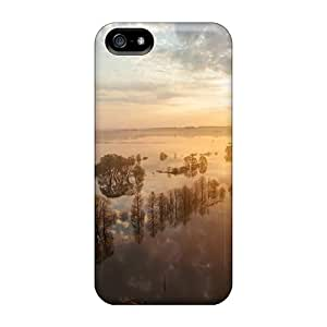 Anti-scratch And Shatterproof Sunset On Flooded Lscape Phone Case For Iphone 5/5s/ High Quality Tpu Case