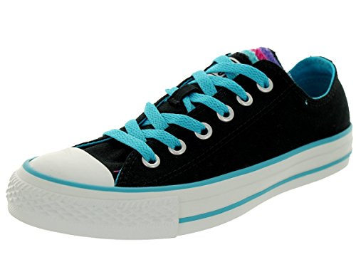 Converse Women's Chuck Taylor Multi Tongue Black/Multi Casual Shoe 6 Women US