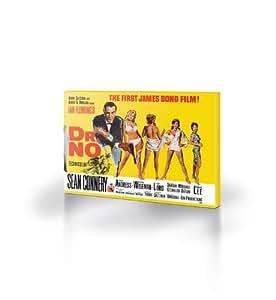 Pyramid International James Bond - Lienzo decorativo (tamaño grande), diseño de Dr No, color amarillo