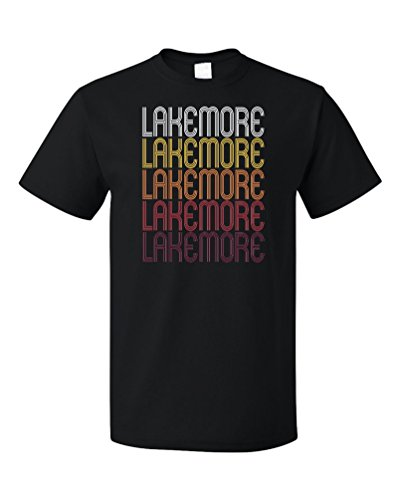 Lakemore, OH | Retro, Vintage Style Ohio Pride T-shirt-(Adult,2XL)
