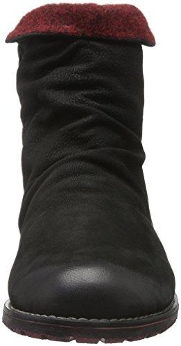 Remonte R33, Botas Chelsea para Mujer, Negro (Schwarz/Bordeaux / 02), 41 EU