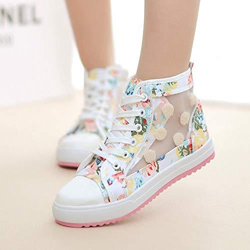 Mode Chaussures Sport Imprimées Femmes Ysfu Toile De Sneakers Baskets n5SS4xBt