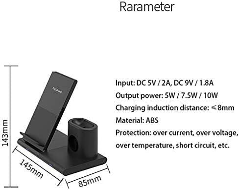 LYzpf Caricatore Wireless 3 in 1 Caricabatterie Senza Fili Veloce Stazione di Ricarica Rapida Compatibile con iPhone XR XS X 8 Accessori Telefoni Samsung S9 S8 10W etc
