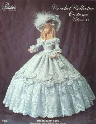 [1852 Tea Party Gown - Crochet Collector Costume Volume 41] (Paradise Costumes Volume)