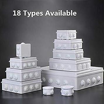 iMiMi Caja de Conexiones 1 Caja de proyectos de Caja el/éctrica para Proyecto IP55 Resistente a la Intemperie 150 x 110 x 70 mm Agujero de Apertura para Caja de Instrumentos