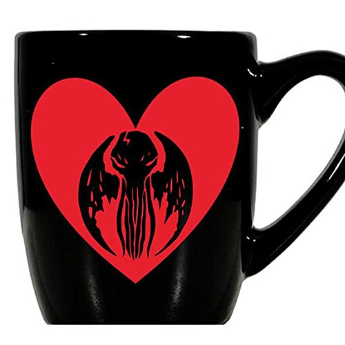 Cthulhu HP Lovecraft Lovecraftian Cthulu Ctulu Valentine's Day Love Heart Horror Mug Coffee Cup Gift Home Decor Kitchen Halloween Bar