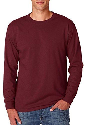 Adult Heavyweight Long Sleeve T-shirt - Jerzees Adult Heavyweight Blend Long-Sleeve T-Shirt, Maroon, XXX-Large
