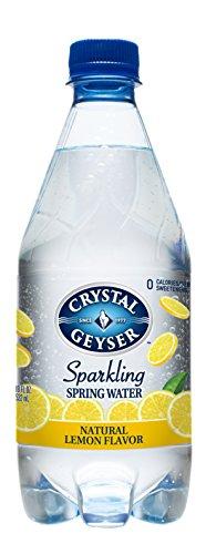 Crystal Geyser Sparkling Spring Water, Lemon Flavor, 18Ounce. PET Bottles , No Artificial Ingredients, Sweeteners, Calorie Free (Pack of 24)