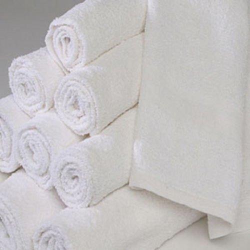 GT 96 NEW WHITE 100% COTTON ECON HOTEL WASH CLOTHS 12X12 WASHCLOTHS 1# HEAVY DUTY