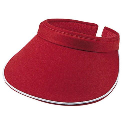 MG Women's Piping Clip On Visor (Red Beanie Visor)