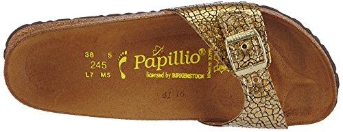 Papillio MADRID Damen Pantoletten Gold (CASSIS CRACK GOLD)