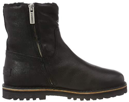 0001 black Women''s Black Shs0292 Shabbies Ankle Boots 7WSOq