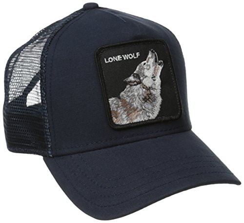 Goorin Bros. Men's Wolf Baseball, Navy, One - Trucker Wolf Hat