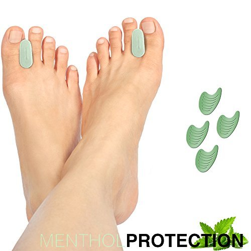 Menthol Protection Gel Toe Separator for Toe Spacing (2 Pack) by Igia