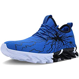 allchar Men's Fashion Graffiti Running Sneakers Personality Breathable Walking Casual Shoes Blue