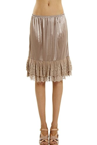 - Double Lace Half Slip Satin Skirt Extender- 21