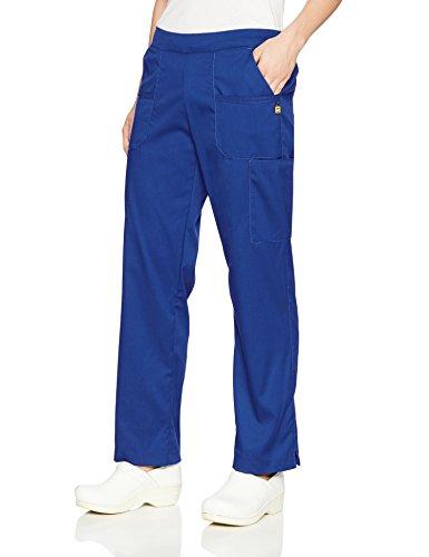 WonderWink Women's Madison Flat Front and Back Elastic, Galaxy Blue, Small (Flat Front Scrub Pants)
