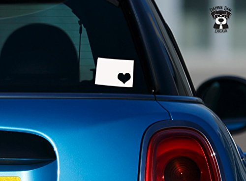"""Colorado Pride I Heart My State 6"""" Art Vinyl Decal Sticker for Car Suv Laptop Notebook Auto Great Gift Mac PC Computer"""
