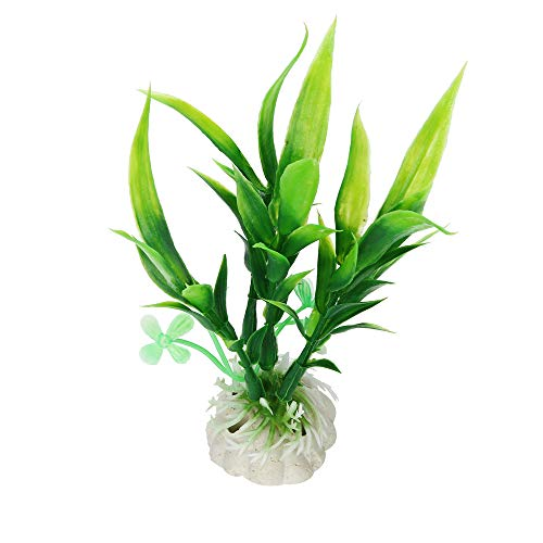 Ecurson Artificial Aquarium Plastic Plants, Fish Tank Decoration Aquatic Water Green Grass Ornament ()