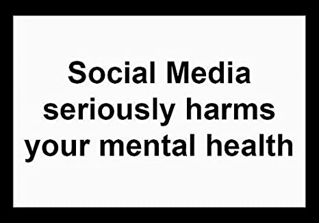 "Amazon.com: Social Media Seriously Harms Your Mental Health Sticker Decal  Window Bumper Sticker Vinyl 5"": Automotive"