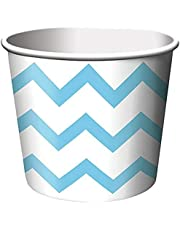 Creative Converting TREAT CHEVRON Cups, 2.5 x 3.5, Multicolored