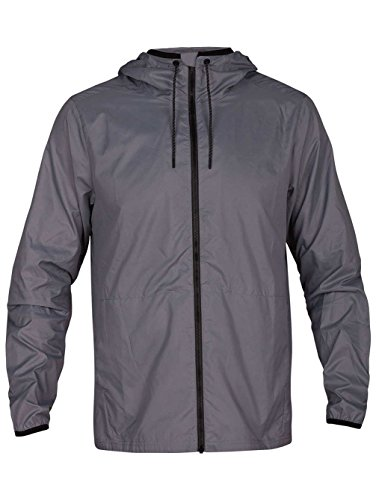 Cal Mens Jackets (Hurley Solid Protect 20 Jacket Medium Cool Grey)